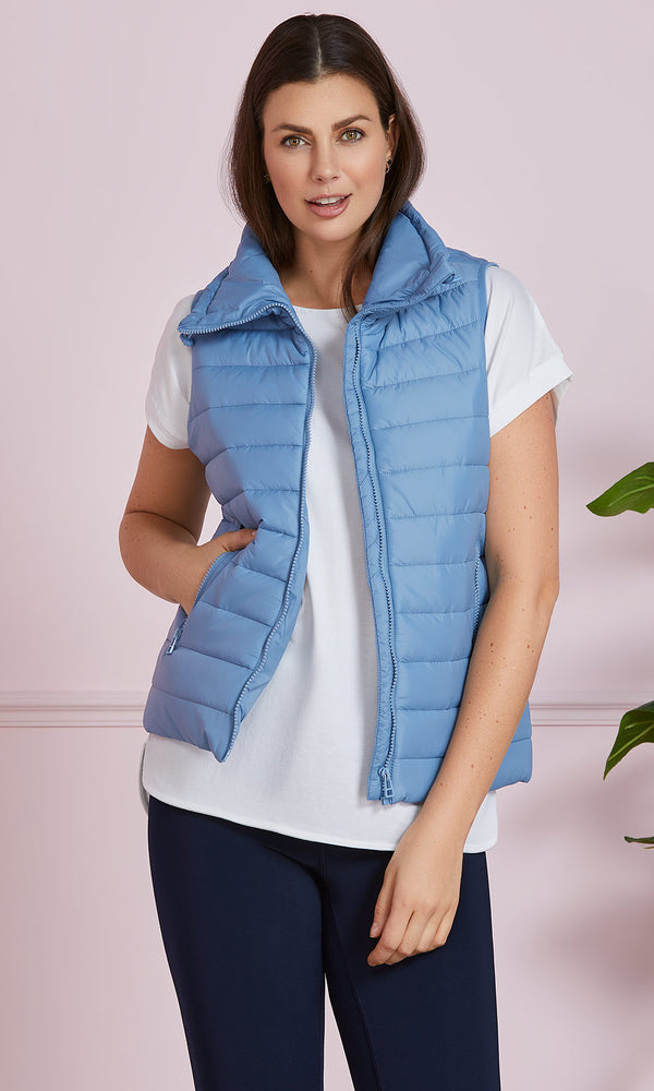 Sleeveless Lightweight Puffer Vest