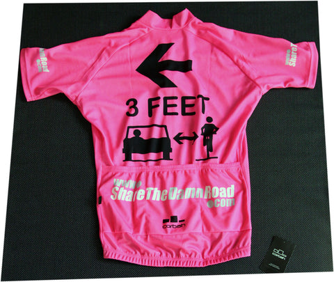 Fluorescent Pink 3 Feet Thanks Ver. 3.0 Cycling Jersey