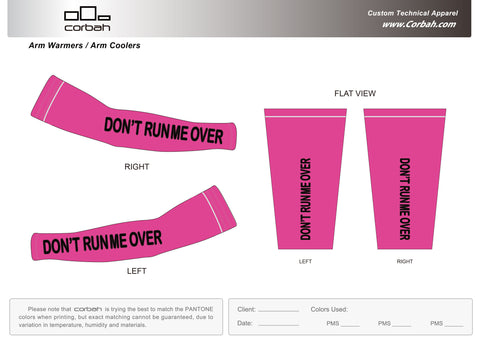 Don't Run Me Over Fluorescent Pink Arm Warmers