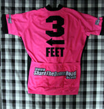 Fluorescent Pink - 3 Feet with Inverted Thanks Cycling Jersey
