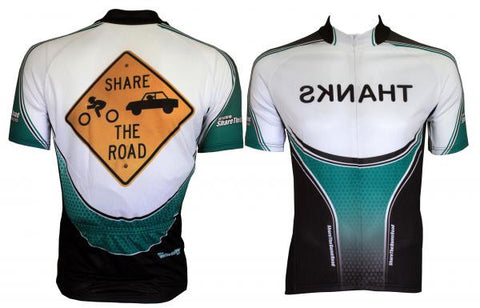 """Share The Road Sign"" Cycling Jersey"