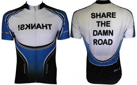 """SHARE THE DAMN ROAD"" Cycling Jersey"