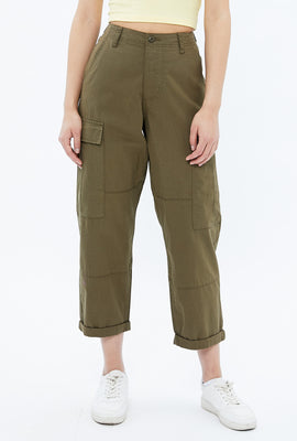 High Rise Straight Utility Pant