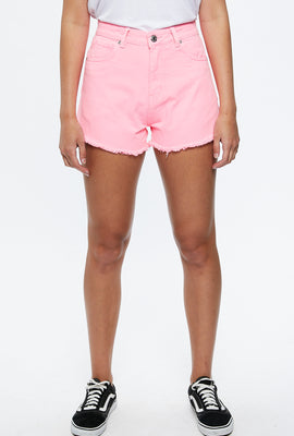High Rise Neon Mom Short