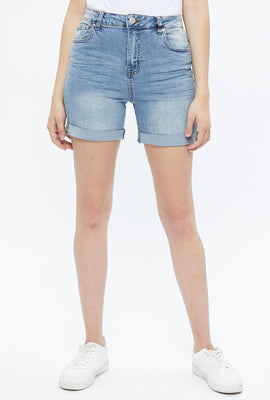 High Rise Roll Hem Short
