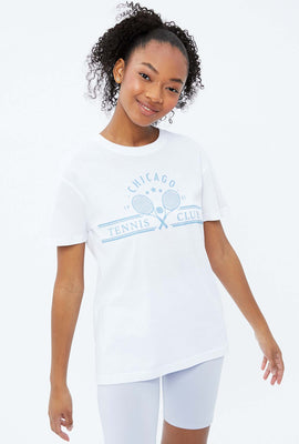 Chicago Tennis Boyfriend Graphic Tee