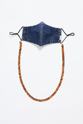 Chunky Tortoise Shell Face Mask Chain