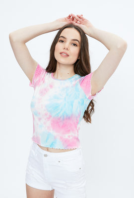 Super Soft Ribbed Tie Dye Baby Tee