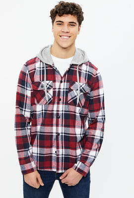 North Western Hooded Plaid Flannel