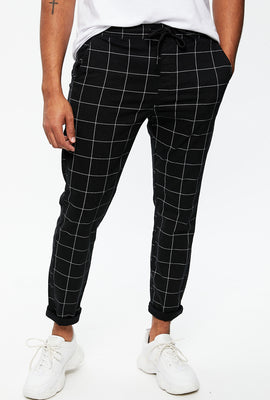 Slim Twill Plaid Pant