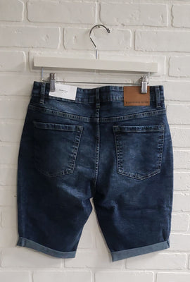 Short en denim ajusté