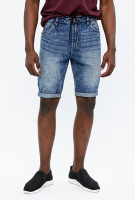 Slim Denim Short With Drawcord