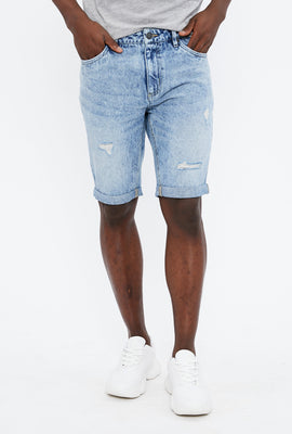 Slim Destroy Denim Short