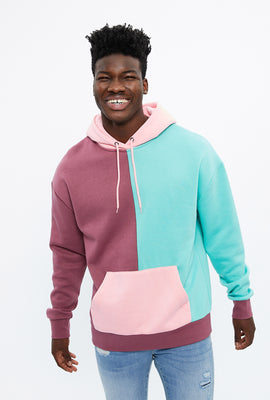 Colour Block Panel Hoodie