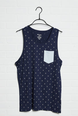 Anchor All Over Print Pocket Tank