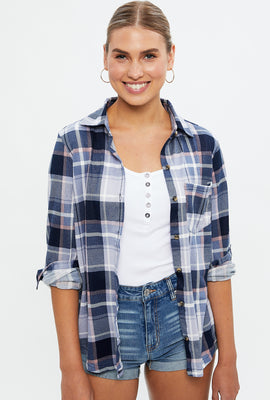 Super Soft Boyfriend Fit Plaid Shirt