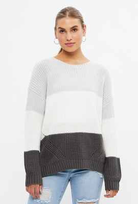 Side Slit Pullover Sweater