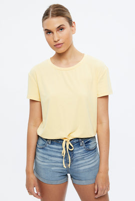 Crop Tie Bottom Tee