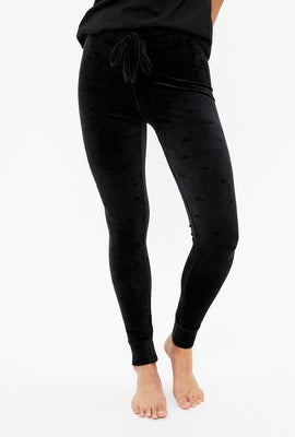 High Waist Velour Legging