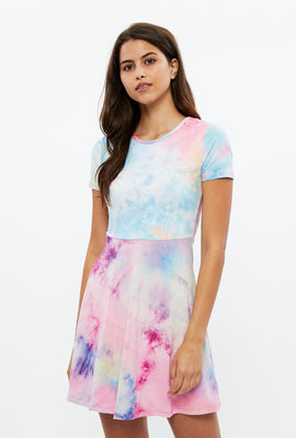 Printed Skater T-Shirt Dress