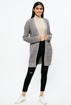 Midi Cardigan with Front Pocket