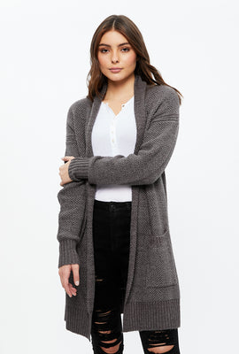 Shawl Midi Cardigan with Pockets