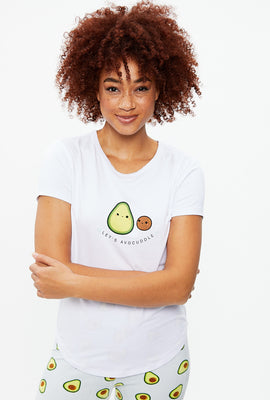 T-shirt Let's Avocuddle super doux