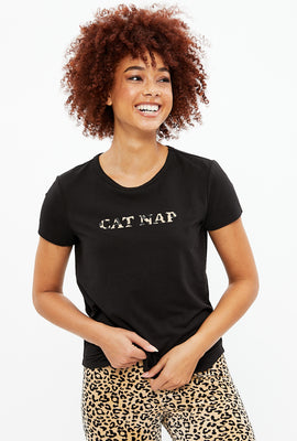 T-shirt Cat Nap super doux