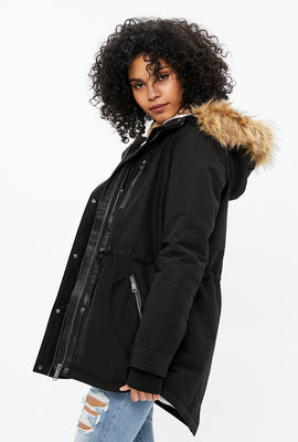 Faux Fur Lined Anorak Jacket