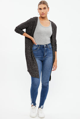 Open Cardigan With Hood