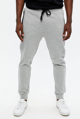 Rib Panel Zip Pocket Jogger