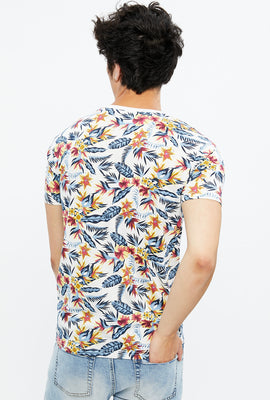 Tropical Floral All Over Print Tee