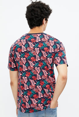 Tropical Leaf All Over Print Tee