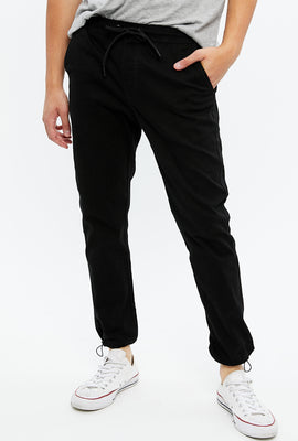 Slim Utility Jogger with Toggle Bottom