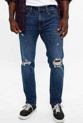 Zane Slim Distressed Jean