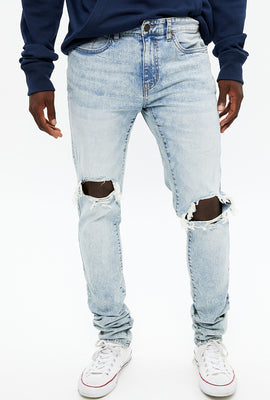 Stacked Skinny Distressed Jean
