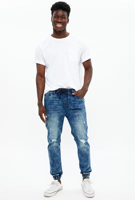 Slim Knit Denim Jogger