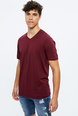 Basic Solid V-Neck Tee