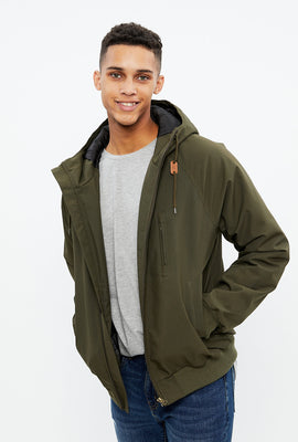 North Western Hooded Bomber Jacket