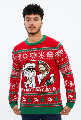 Happy Birthday Jesus Crew Neck Sweater