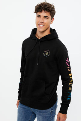 North Western Diamond Gradient Graphic Pullover Hoodie