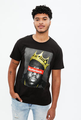 T-shirt à imprimé Notorious BIG couronne