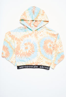 AERO Girls Super Soft Printed Jacquard Waistband Hoodie