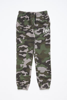 Girls Fleece Camouflage Graphic Hip Print Basic Jogger