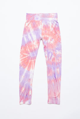 Girls Super Soft High Waist Tie Dye Legging