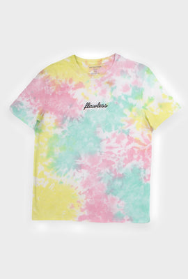 AERO Girls Tie Dye Embroidered Flawless Graphic Tee