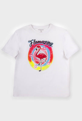 AERO Girls Flamingo Graphic Tee