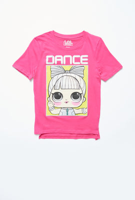 AERO Girls Hi-Lo LOL Surprise Dance Graphic Tee