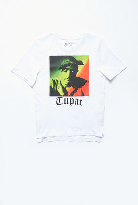 AERO Girls Hi-Lo Tupac Graphic Tee