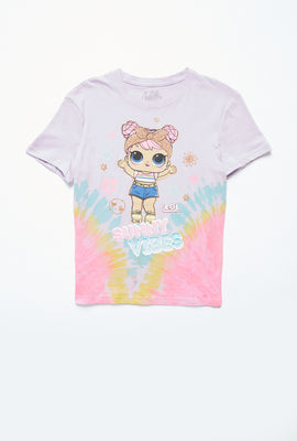 AERO Girls Tie Dye LOL Surprise Sunny Vibes Graphic Tee